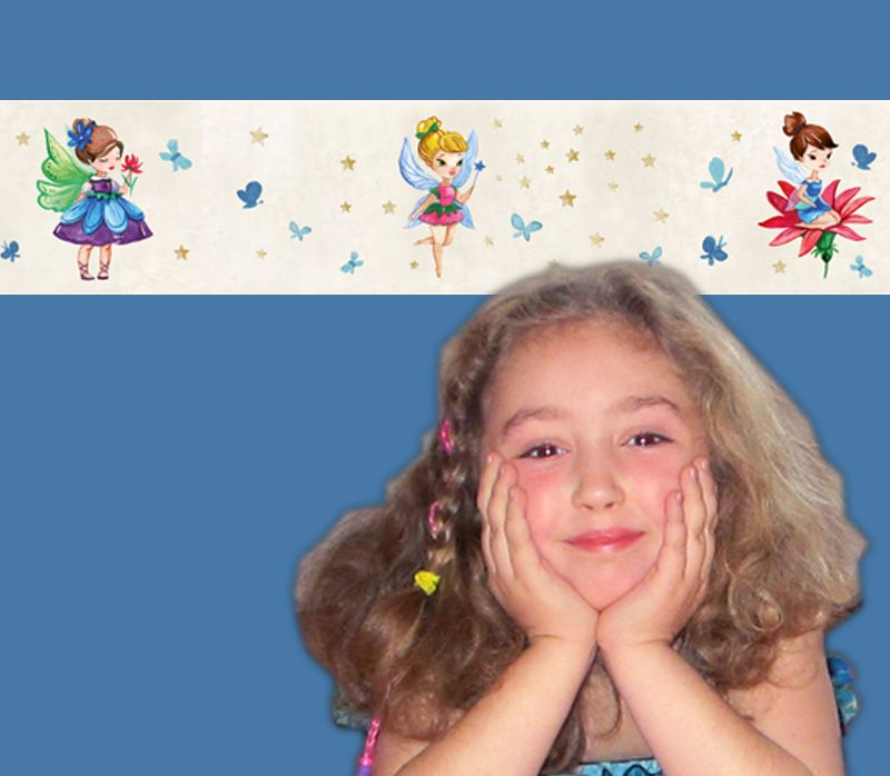 - Kinderbordüre - selbstklebend | Kleine Blumenfee - Watercolor - 18 cm Höhe | Wandbordüre mit vielen Feen mit Blumen und Schmetterlingen - Kinderbordüre - selbstklebend | Kleine Blumenfee - Watercolor - 18 cm Höhe | Wandbordüre mit vielen Feen mit Blumen und Schmetterlingen