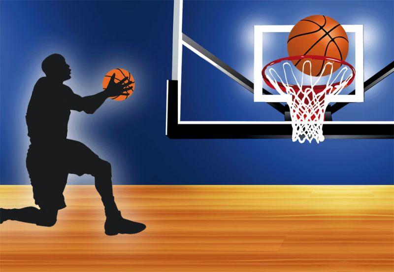 Kleinesbild -  Wandbordüre - selbstklebend | Basketball - 18 cm Höhe | Vlies Bordüre mit Basketball und Spieler