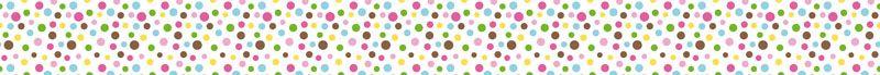 Kleinesbild - Kinderbordüre - selbstklebend   Bunte Punkte - 12 cm Höhe   Vlies Bordüre mit vielen fröhlichen Pünktchen