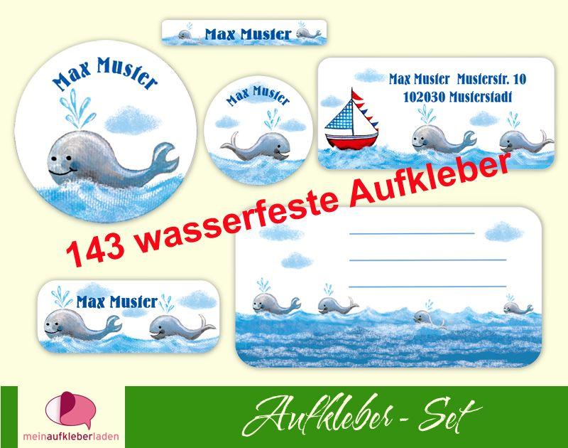 - Schulaufkleberset    Wale - 143 Aufkleber - personalisierbar   Namensaufkleber, Schuletiketten  - Schulaufkleberset    Wale - 143 Aufkleber - personalisierbar   Namensaufkleber, Schuletiketten