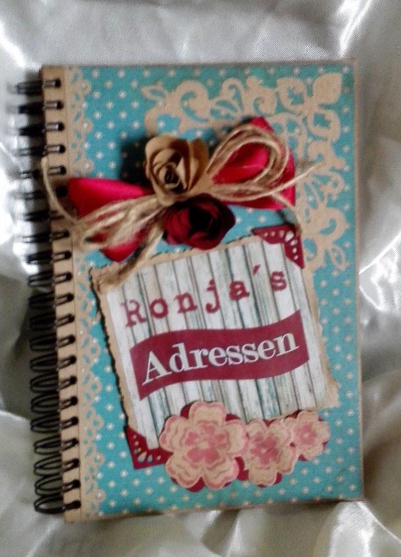 """- Adressbuch """"Vintage"""" handgefertigt und dekoriert - Adressbuch """"Vintage"""" handgefertigt und dekoriert"""