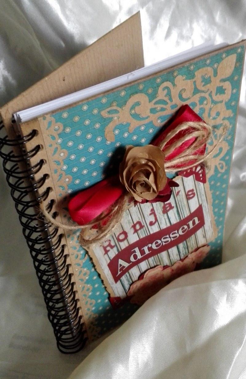 """Kleinesbild - Adressbuch """"Vintage"""" handgefertigt und dekoriert"""
