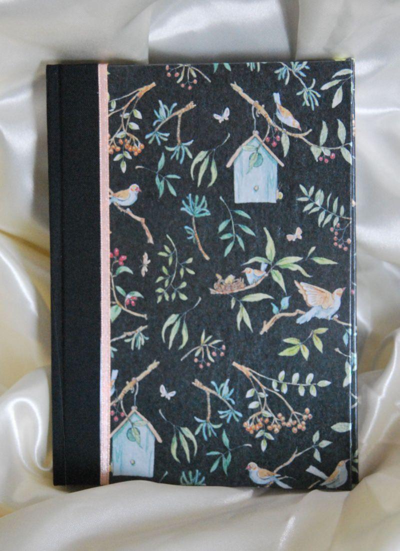 "- Adressbuch handgefertigt ""Birdies Home"" 48 Blatt - Adressbuch handgefertigt ""Birdies Home"" 48 Blatt"