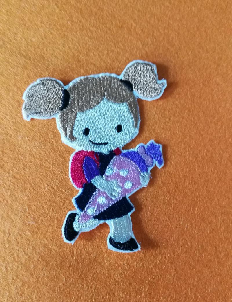 Kleinesbild -  Stickbilder für den Schulanfang zum aufbügeln, Stickbilder, Bügelbilder
