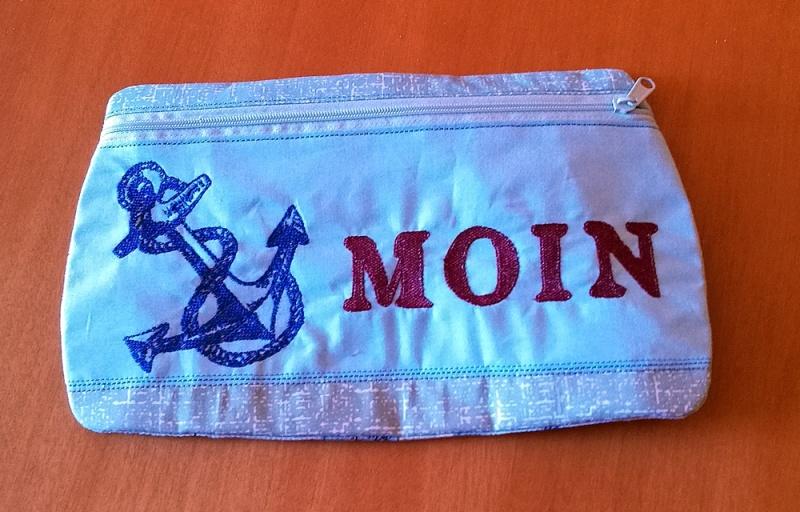 -    ☆ maritimes Täschchen ☆    aus Stoff mit Reißverschluss für all die kleinen Dinge -    ☆ maritimes Täschchen ☆    aus Stoff mit Reißverschluss für all die kleinen Dinge