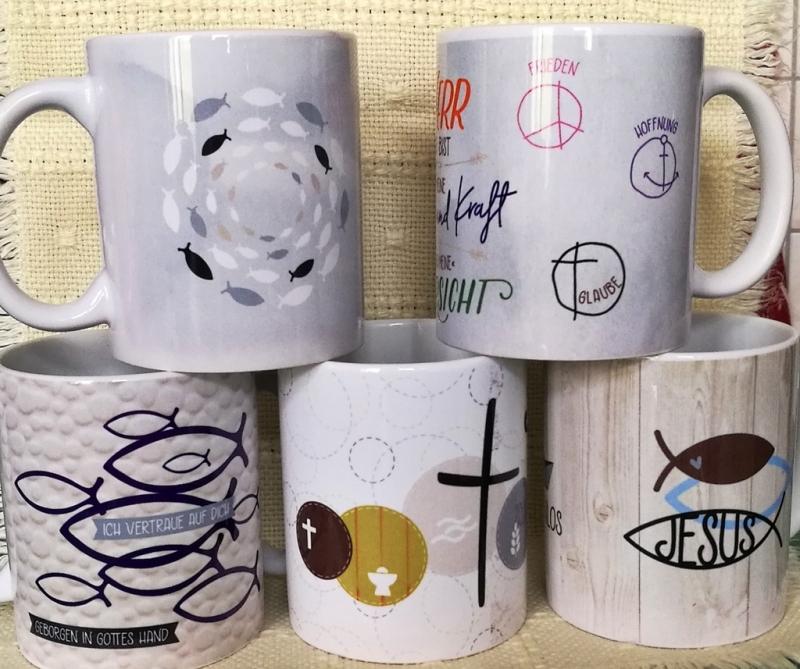 Kleinesbild - Tasse zur Konfirmation/ Kommunion, individuell    angefertigte Tasse mit christlichen Motiven für jeden Anlass
