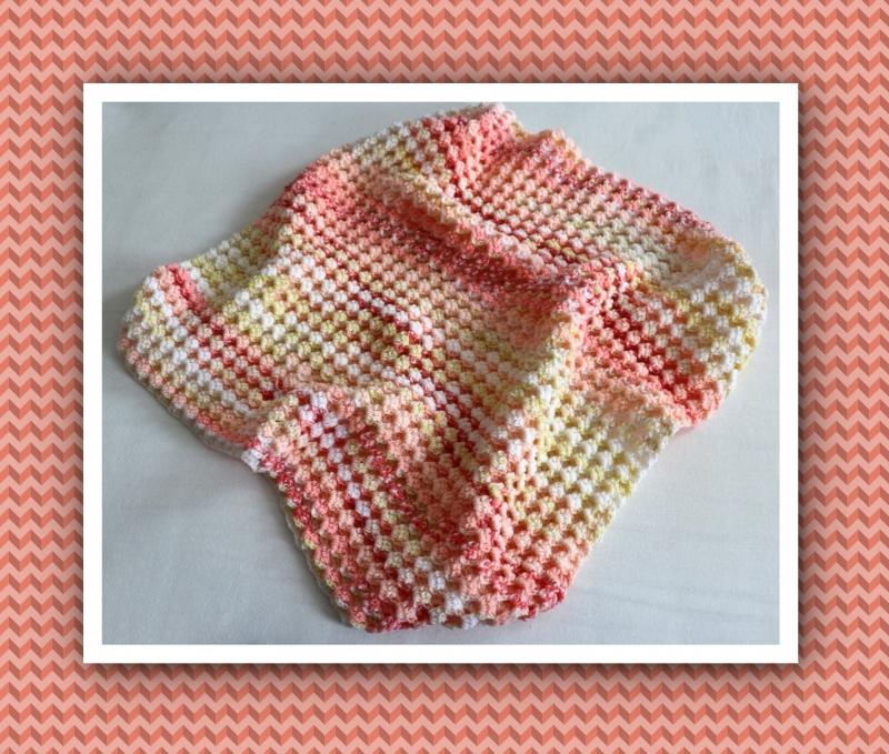 - Babydecke zum Kuscheln, mit aufwendigem Muster gehäkelt, gelb/orange/rot - Babydecke zum Kuscheln, mit aufwendigem Muster gehäkelt, gelb/orange/rot