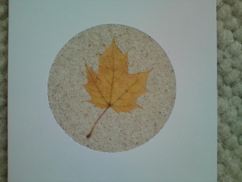 Kleinesbild - Herbstliche Grußkarten mit Pflanzen und Sand, Sandkarten kaufen
