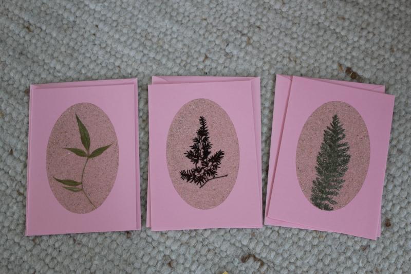 - Sandkarten, Grußkarten rosé, mit Umschlägen, 3er Set - Sandkarten, Grußkarten rosé, mit Umschlägen, 3er Set