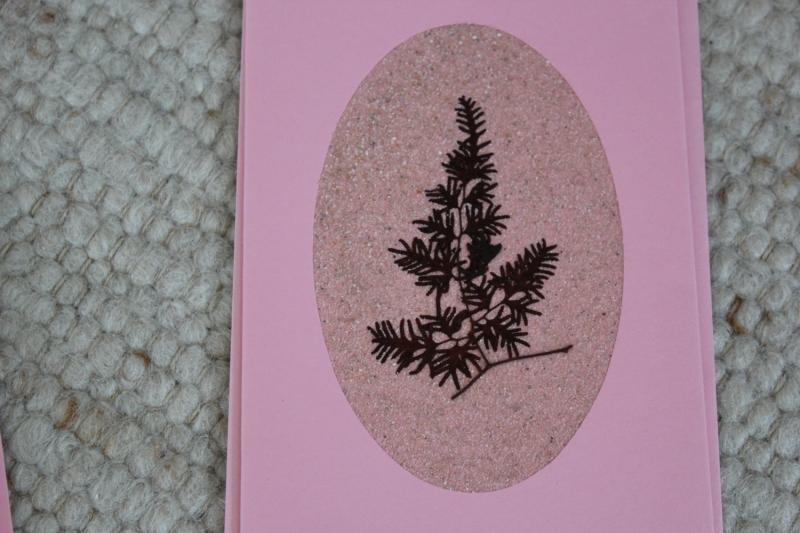 Kleinesbild - Sandkarten, Grußkarten rosé, mit Umschlägen, 3er Set