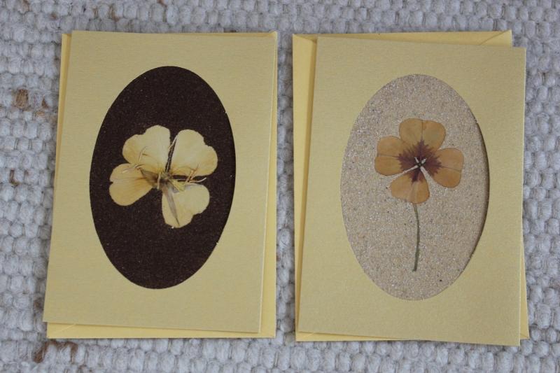 - Sandkarten, Glückwunschkarten goldfarben, Goldenes Glück, 2er Set - Sandkarten, Glückwunschkarten goldfarben, Goldenes Glück, 2er Set