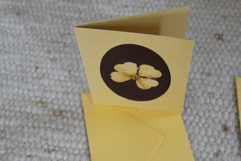 Kleinesbild - Sandkarten, Glückwunschkarten goldfarben, Goldenes Glück, 2er Set