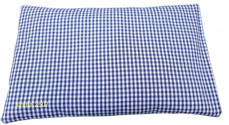 - Zirbenkissen 30 x 20 cm mit Inlett und abnehmbaren Bezug blau/weiß  - Zirbenkissen 30 x 20 cm mit Inlett und abnehmbaren Bezug blau/weiß