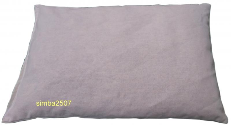 Kleinesbild - Zirbenkissen 30 x 20 cm mit Inlett und abnehmbaren Bezug blau/weiß
