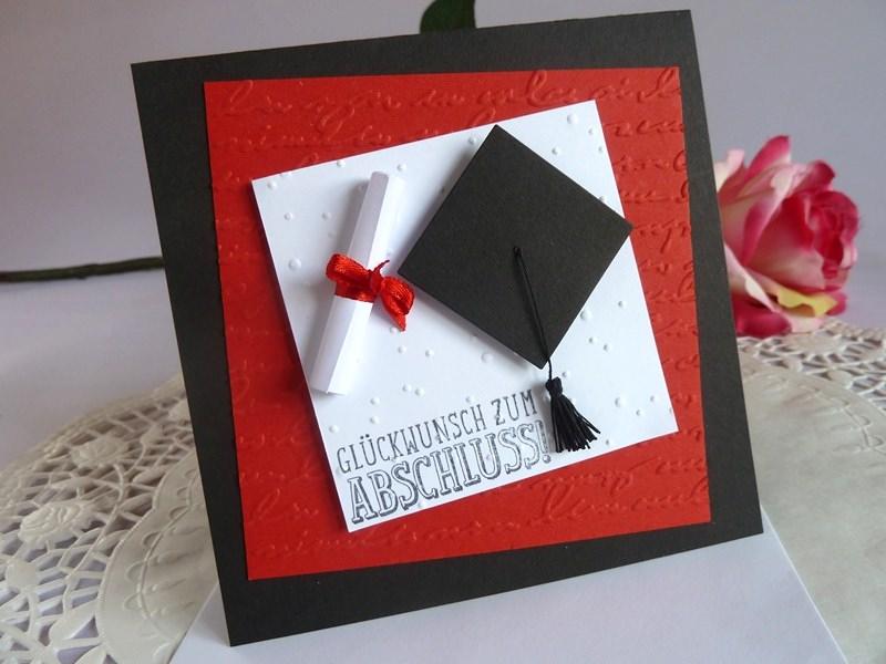 Kleinesbild - Karte zur Promotion / zur bestandenen Prüfung/Abitur zum Abschluss *von IdeenOase*