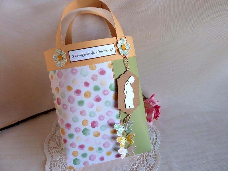 Kleinesbild - Schwangerschaft / Schwangerschafts-Survival-Kit / Befüllte Tasche für die Schwangere