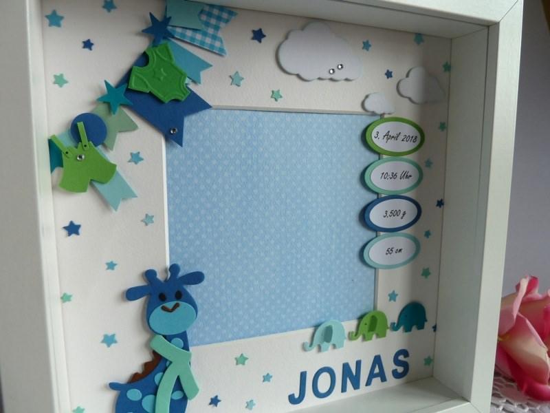 Kleinesbild - Geburtsrahmen/Geschenk zur Geburt/Taufe mit den Geburtsdaten
