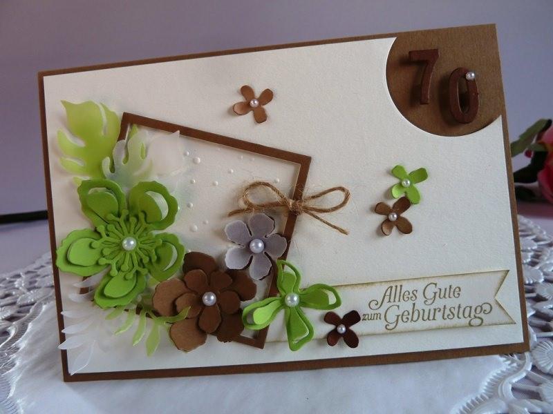 Kleinesbild - Geburtstagskarte / Glückwunschkarte mit zahlreichen Blüten