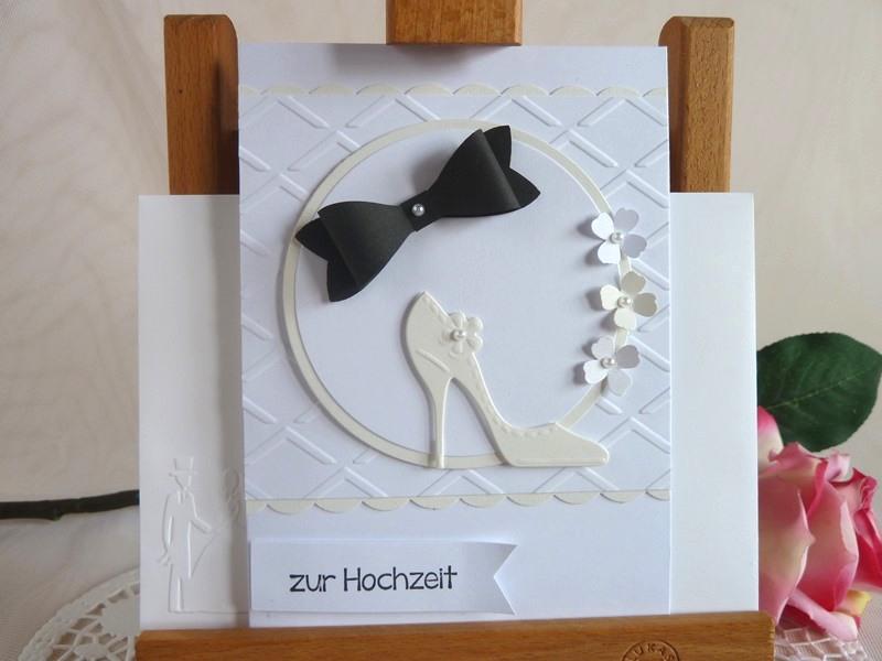 -  Glückwunschkarte zur Hochzeit in weiß/creme und schwarz *von IdeenOase* -  Glückwunschkarte zur Hochzeit in weiß/creme und schwarz *von IdeenOase*