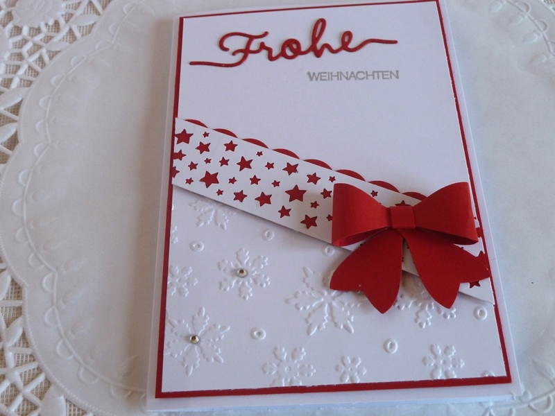 - Weihnachtskarte in weiß/rot - Weihnachtskarte in weiß/rot