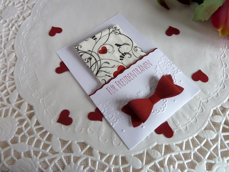 Kleinesbild - Freudentränen-Taschentuch mit Hülle für die Hochzeit *von IdeenOase*