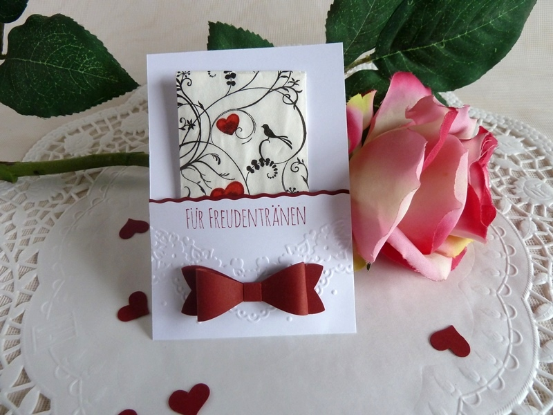 - Freudentränen-Taschentuch mit Hülle für die Hochzeit *von IdeenOase* - Freudentränen-Taschentuch mit Hülle für die Hochzeit *von IdeenOase*