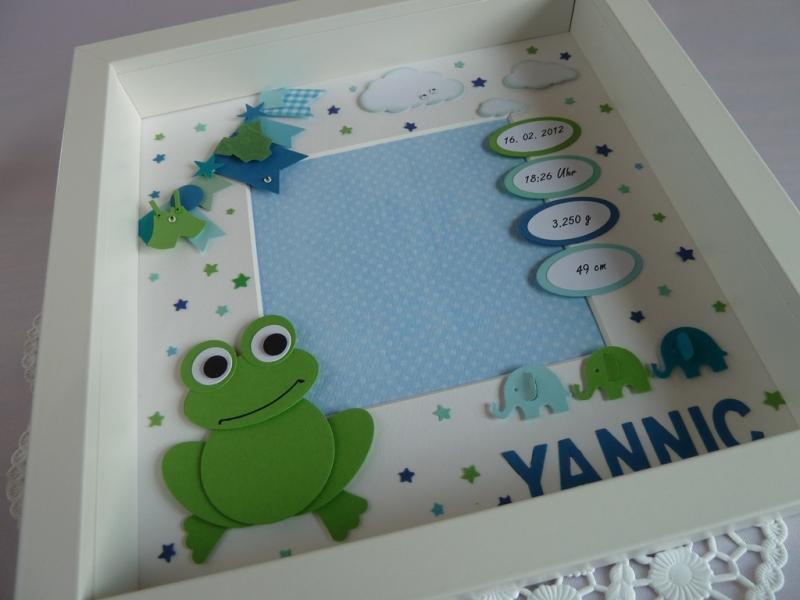Kleinesbild - Geburtsrahmen/Geschenk zur Geburt/Taufe mit den Geburtsdaten *von IdeenOase*