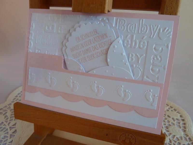 Kleinesbild - Glückwunschkarte zur Geburt/Taufe für ein Mädchen *von IdeenOase*