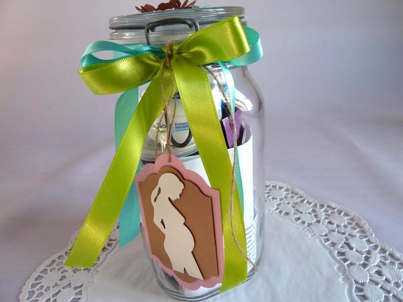 Kleinesbild - Schwangerschaft / Schwangerschafts-Survival-Kit / Befülltes Glas mit Bügelverschluss für die Schwangere *von IdeenOase*