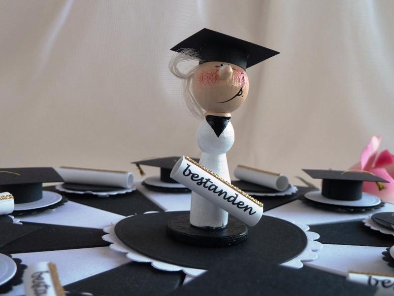 Kleinesbild - Geldgeschenk/Geldgeschenktorte zur Promotion/für einen Abiturienten, 23 cm Durchmesser