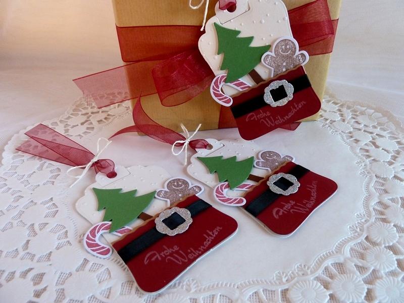 Kleinesbild -  3 Geschenkanhänger/Tags für Weihnachten