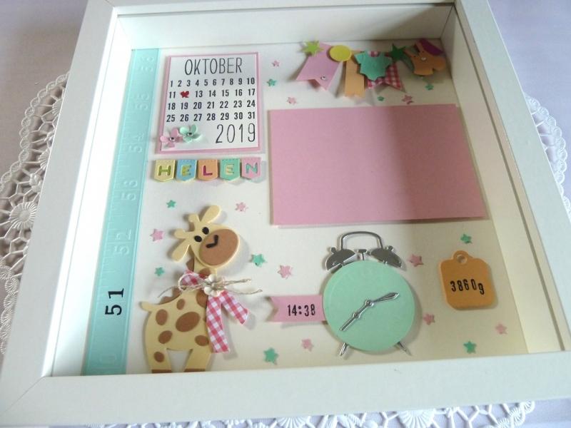 Kleinesbild - Geburtsrahmen/Geschenk zur Geburt/Taufe, individualisierbar mit den Geburtsdaten