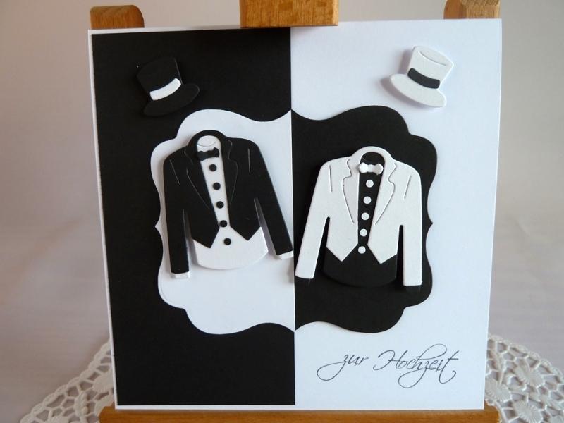 - Edle Hochzeitskarte in schwarz/weiß/Männerhochzeit/quadratisch/Weddings/ - Edle Hochzeitskarte in schwarz/weiß/Männerhochzeit/quadratisch/Weddings/