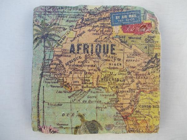 Kleinesbild - Untersetzer Fliese ♥  *Africa* 2 Stück im Set