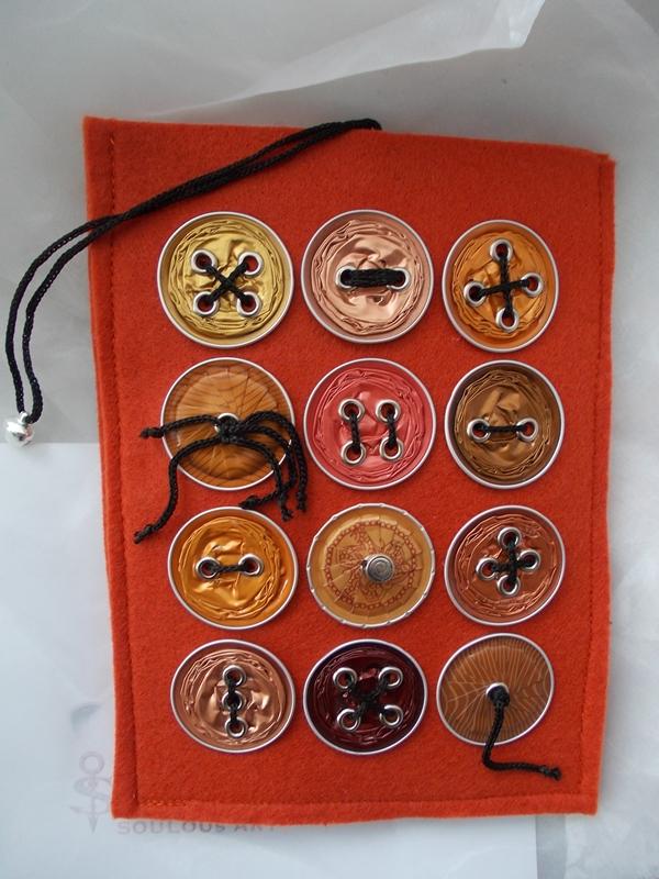 - Hülle Case Etui Tasche für E-Book-Reader aus Filz und Nespresso-Kapseln-Knöpfen  ♥ *orangecap* orange - Hülle Case Etui Tasche für E-Book-Reader aus Filz und Nespresso-Kapseln-Knöpfen  ♥ *orangecap* orange