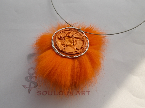 Kleinesbild - Anhänger Schlüsselanhänger ♥ Nessi Anhänger am Stahlband  Nespresso - Kapsel upcycling recycling orange