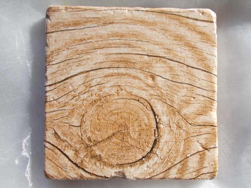 Kleinesbild - Untersetzer Fliese ♥  *Wood* 2 Stück im Set