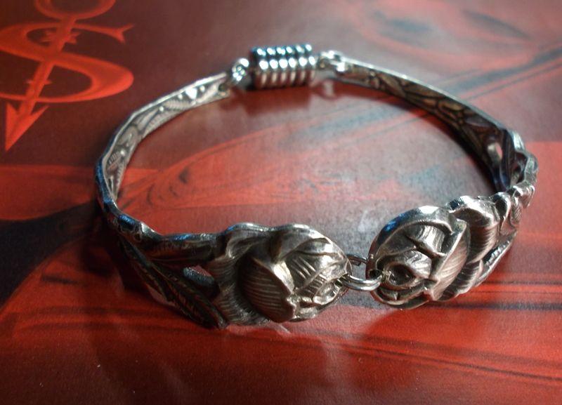 Kleinesbild - Besteckschmuck Armband Armreif mit Magnet ♥ Rose III