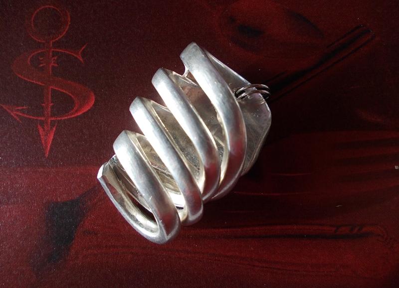 -  Besteckschmuck Anhänger ♥ Gabel Spirale Lagenlook -  Besteckschmuck Anhänger ♥ Gabel Spirale Lagenlook