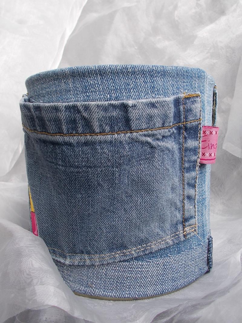 Kleinesbild - Blumentopf Übertopf Tischeimer Geldgeschenk ♥ LIPSTICK Jeans trifft auf Konservendose