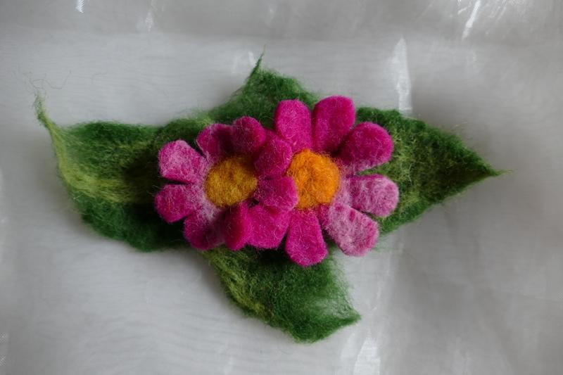 - Haarspange gefilzt ♥ Haarspange Pink Flower Haarschmuck - Haarspange gefilzt ♥ Haarspange Pink Flower Haarschmuck