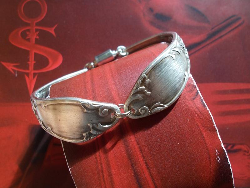 - Besteckschmuck Armband Armreif mit Magnet/Drehverschluß ♥ Romantique - Besteckschmuck Armband Armreif mit Magnet/Drehverschluß ♥ Romantique