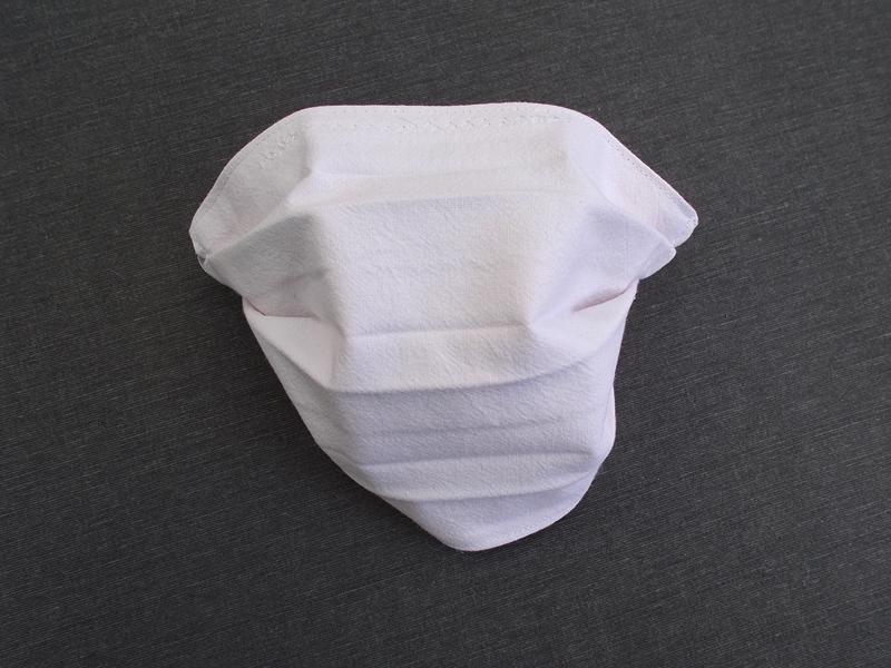 Kleinesbild - Behelfs-Mundschutz Maske Baumwolle waschbar genäht Nasenbügel Gummischlaufen *Pastell Human IV*