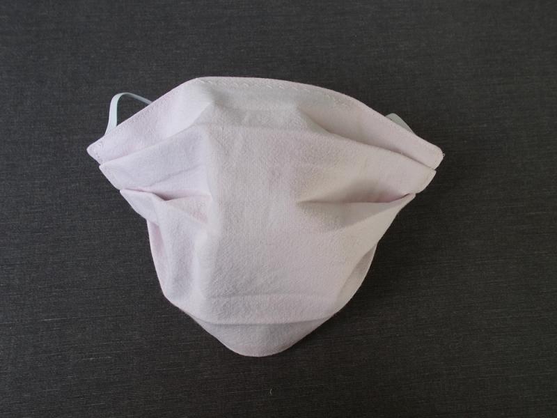 Kleinesbild - Behelfs-Mundschutz Maske Baumwolle waschbar genäht Nasenbügel Gummischlaufen *Pastell Human VI*
