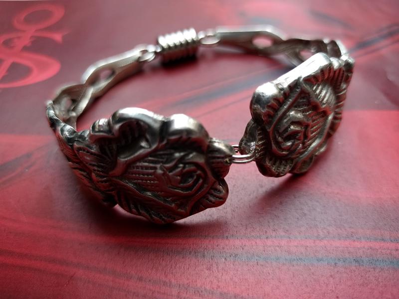 - Besteckschmuck Armband Armreif mit Magnet ♥ *Rose* Sonderedition - Besteckschmuck Armband Armreif mit Magnet ♥ *Rose* Sonderedition