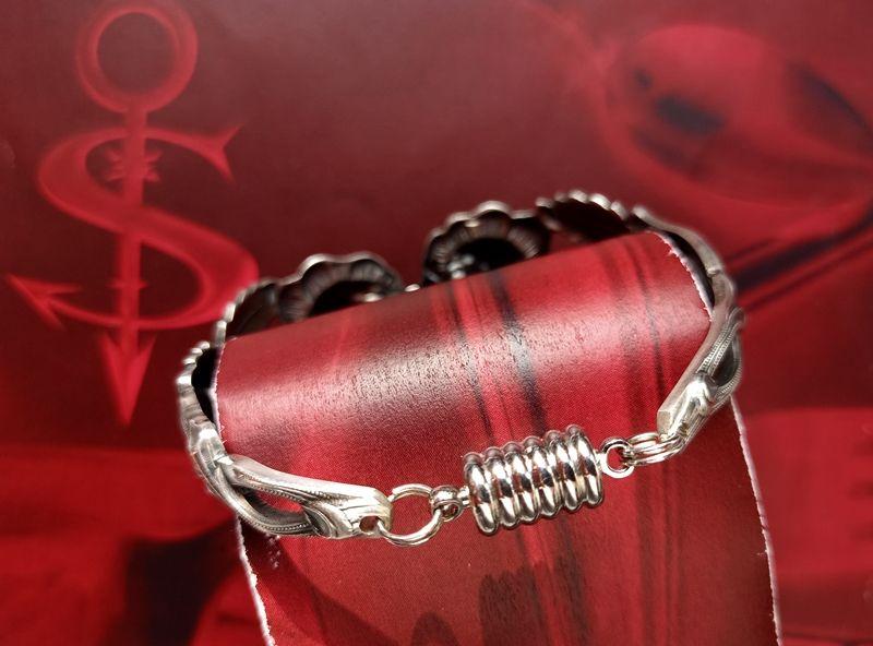 Kleinesbild - Besteckschmuck Armband Armreif mit Magnet ♥ Open Rose