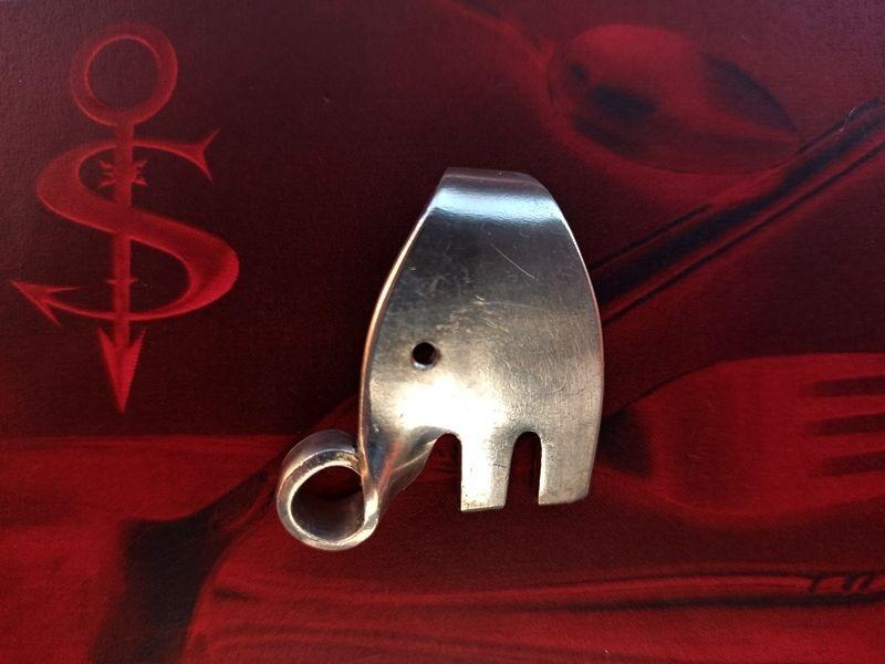 -  Besteckschmuck Anhänger ♥ *Little Elefant I* Lagenlook  -  Besteckschmuck Anhänger ♥ *Little Elefant I* Lagenlook