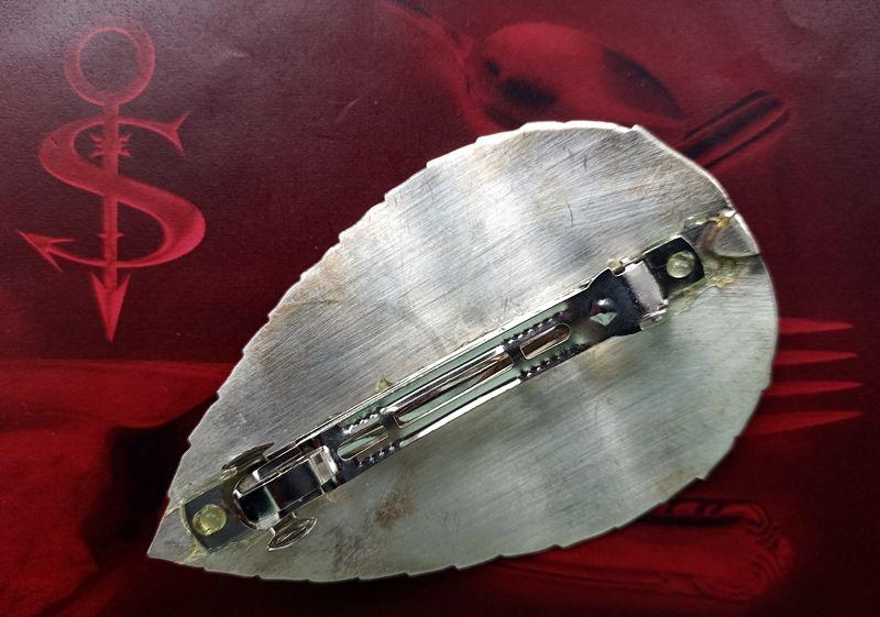 Kleinesbild - Besteckschmuck Haarspange Blatt ♥ Haarspange aus einem Tortenheber