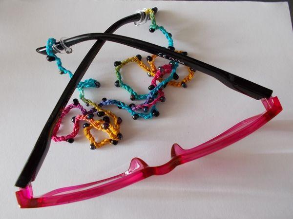 Kleinesbild - Brillenband Brillenkette  Perlenbrillenband ♥ *hellblau/türkis*