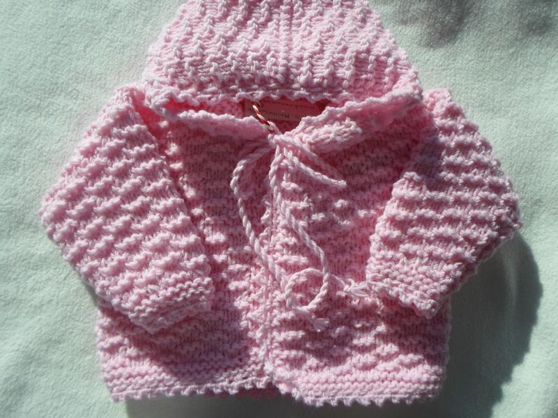 - Gr.50/56 Babyzwergenjacke in rosa mit Kapuze aus reiner Merinowolle im Strukturmuster handgestrickt - Gr.50/56 Babyzwergenjacke in rosa mit Kapuze aus reiner Merinowolle im Strukturmuster handgestrickt